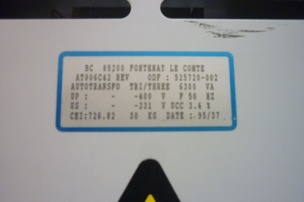 TRANSFORMER 400V   230V, Year : 1995, ref.45894   www.coci-sa.com/en   45894n_1.jpg