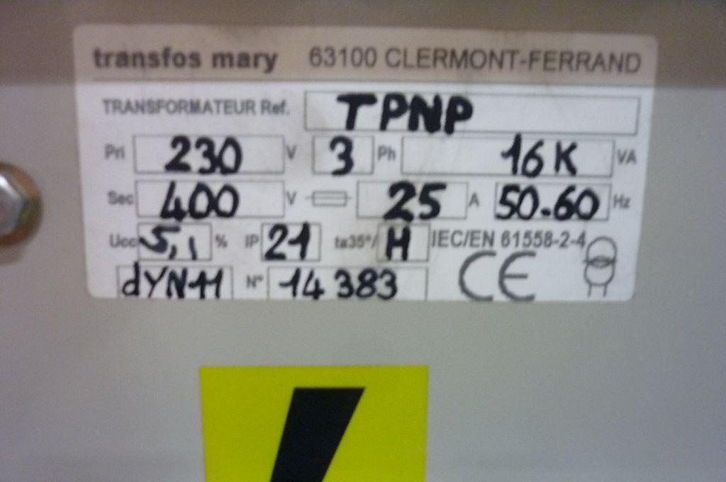 TRANSFORMER 230V   400V, Año: 1999, ref.45897 | www.coci-sa.com/es | 45897n_1.jpg