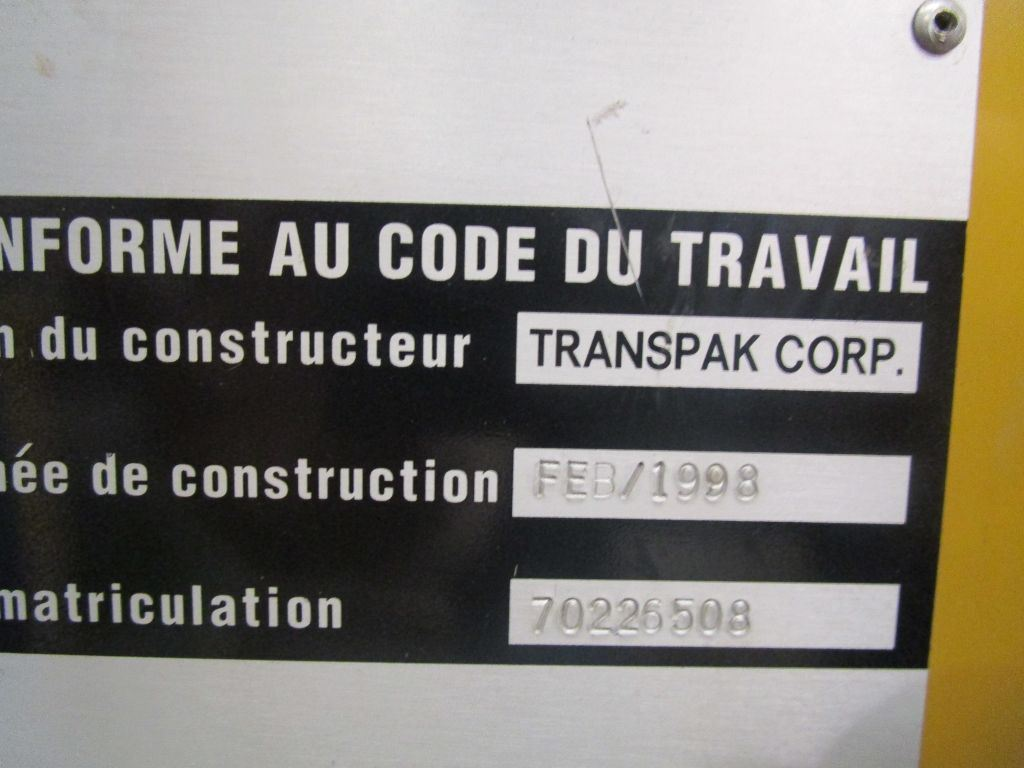 STRAPPING-MACHINE TRANSPAK, Rocznik : 1998, ref.57007 | www.coci-sa.com/pl | 57007n.jpg