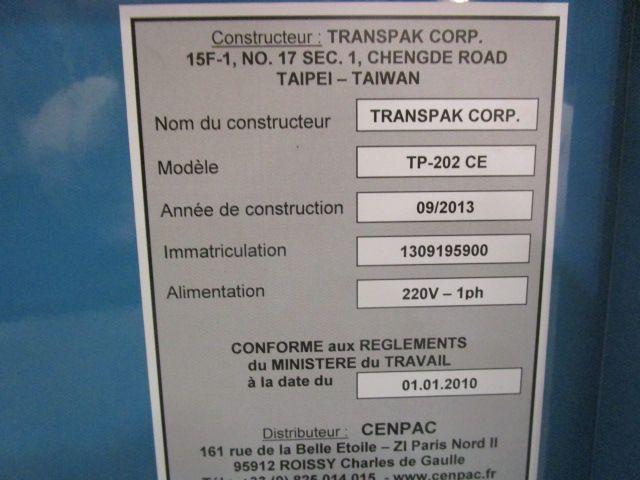 STRAPPING-MACHINE TRANSPAK, Year : 2013, ref.62275 | www.coci-sa.com/en | 62275n_1.jpg