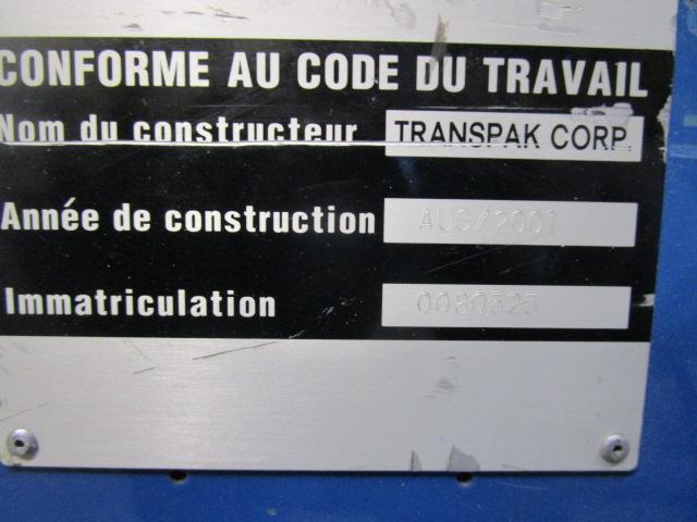 STRAPPING-MACHINE TRANSPAK, Year : 2001, ref.65902 | www.coci-sa.com/en | 65902n_1.jpg