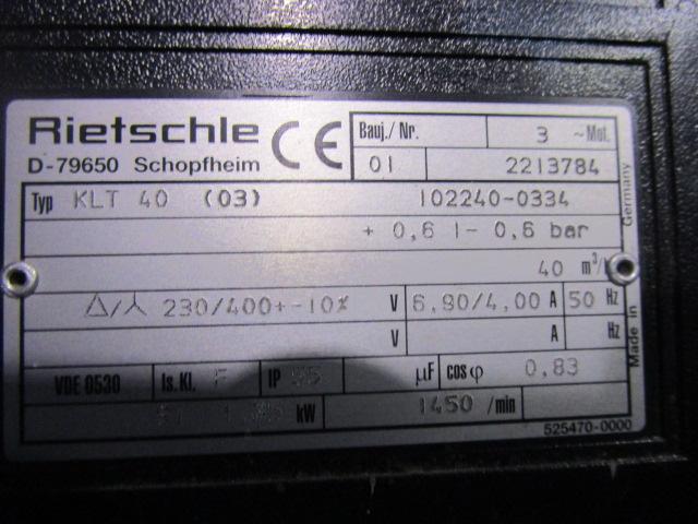 COMPRESSOR RIETSCHLE, Año: 2001, ref.66125 | www.coci-sa.com/es | 66125n_1.jpg