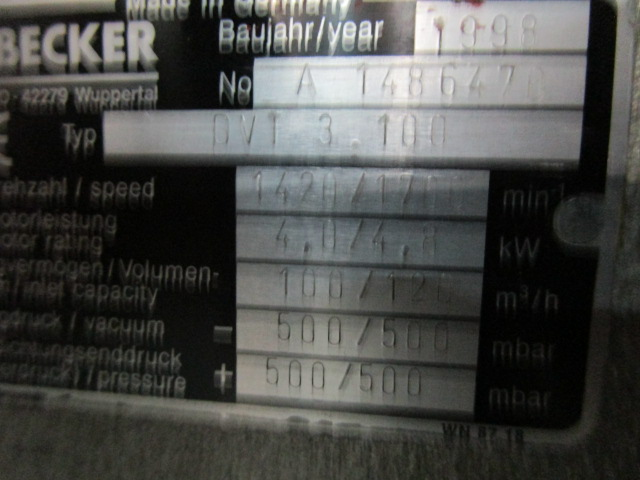 COMPRESSOR BECKER, Año: 1998, ref.66571 | www.coci-sa.com/es | 66571n.jpg