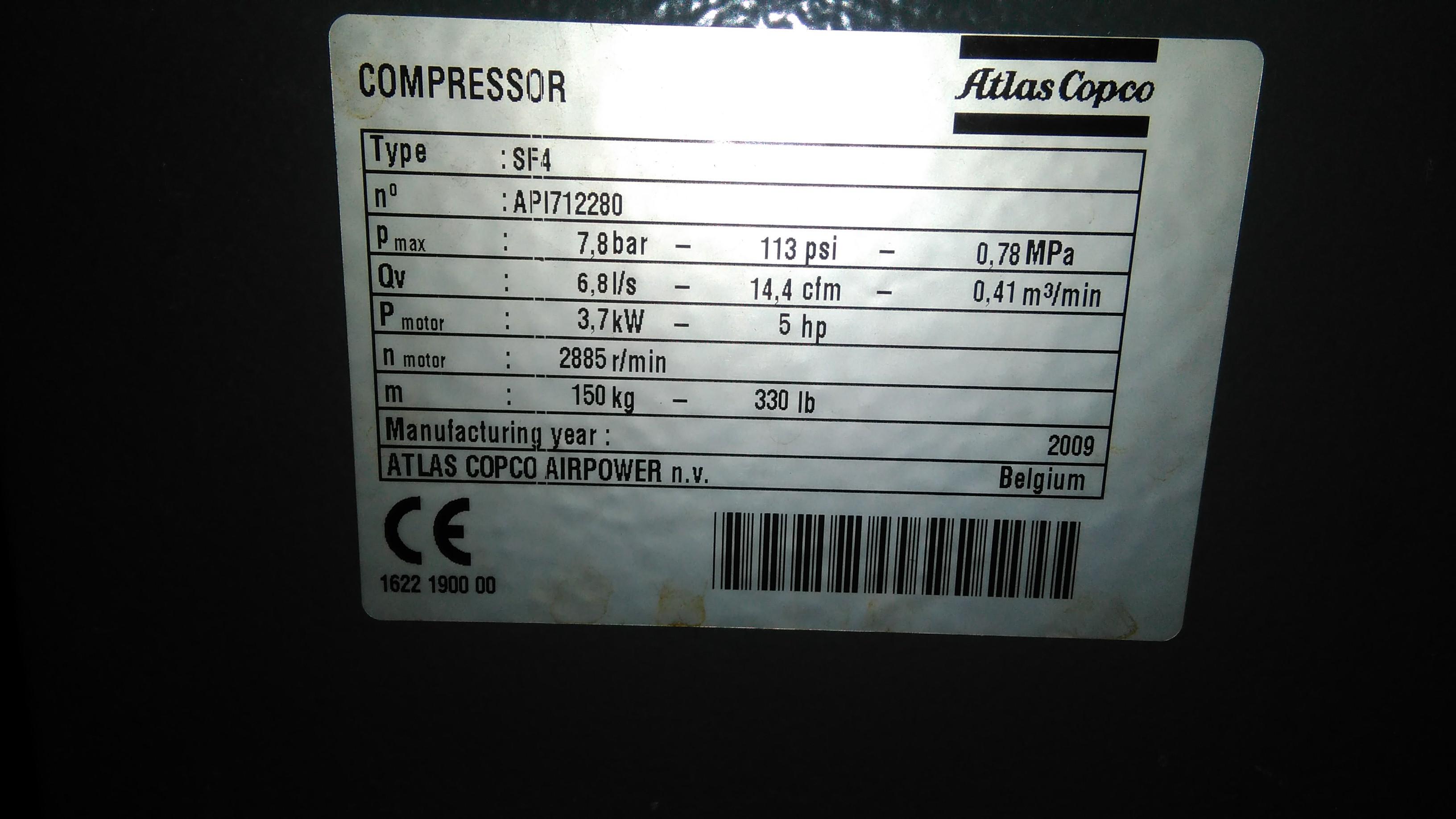 COMPRESSOR ATLAS COPCO, Año: 2009, ref.66981 | www.coci-sa.com/es | 66981n_3.jpg