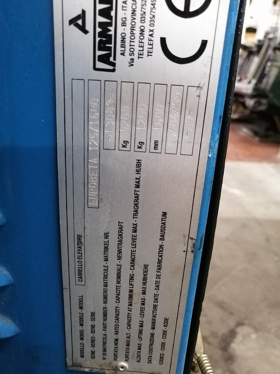 HANDLING-MATERIAL ELECTRIC PALLET TRUCK, Rocznik : 1996, ref.68334 | www.coci-sa.com/pl | 68334n.jpg