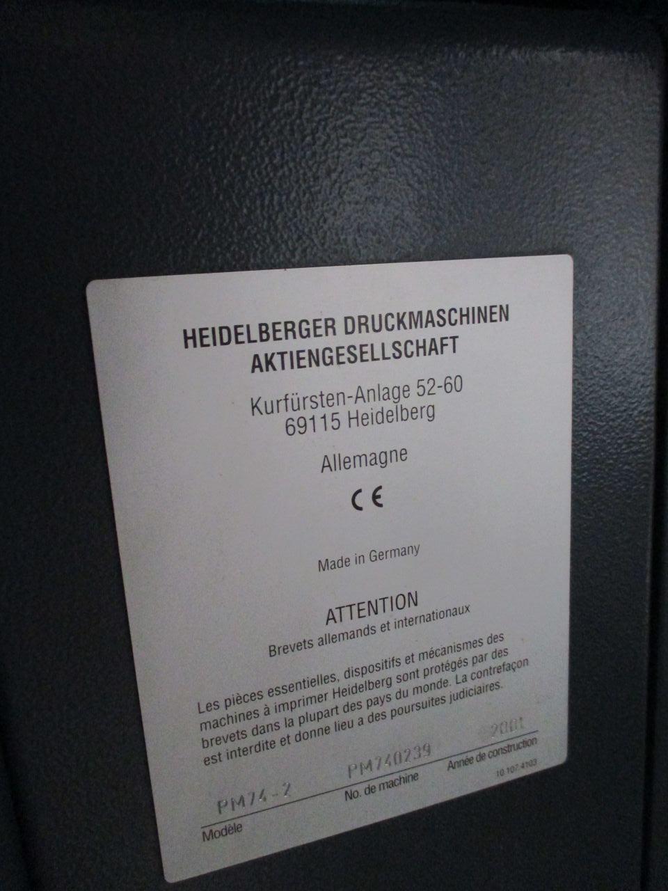 HEIDELBERG PM 74 2, Year : 2001, ref.68713 | www.coci-sa.com/en | 68713n_6.jpg