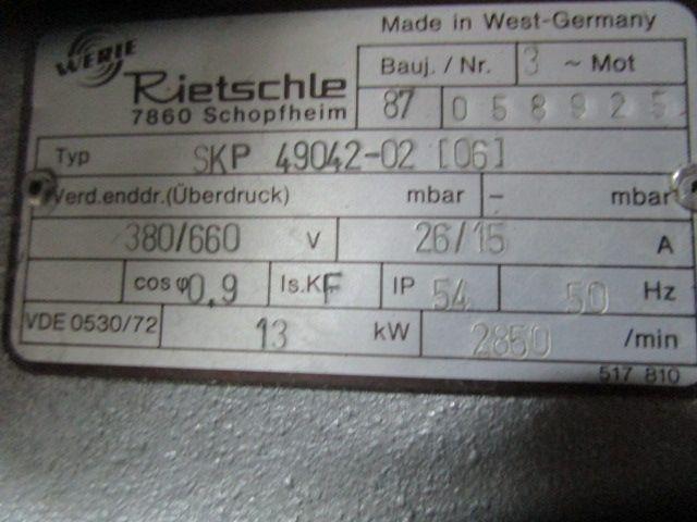 COMPRESSOR RIETSCHLE, Anno: 1987, ref.68781 | www.coci-sa.com/it | 68781n_1.jpg