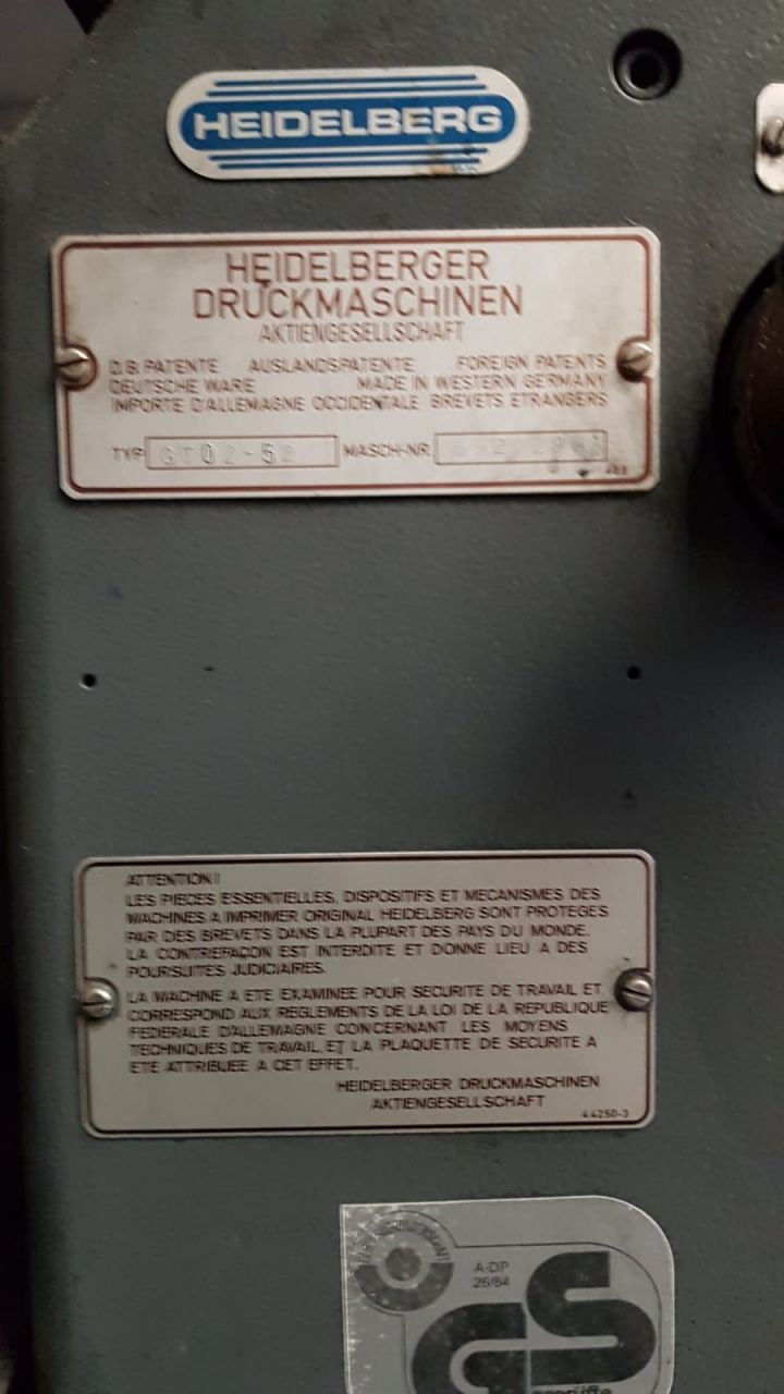 HEIDELBERG GTOZ 52, Year : 1988, ref.68844 | www.coci-sa.com/en | 68844n_8.jpg