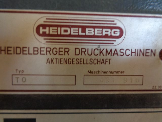 HEIDELBERG TOK, Year : 1984, ref.69072   www.coci-sa.com/en   69072n_2.jpg