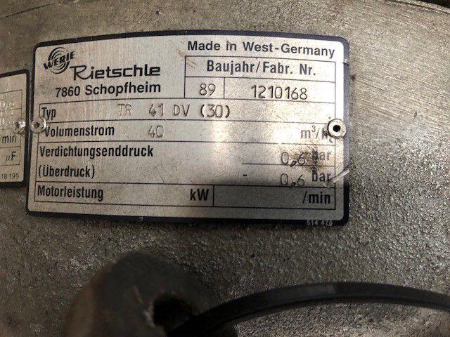 COMPRESSOR RIETSCHLE, Year : 1989, ref.69427 | www.coci-sa.com/en | 69427n_1.jpg