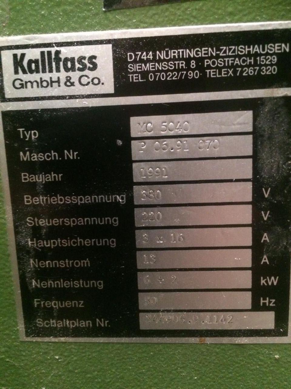 KALLFASS KC 5040, Year : 1991, ref.71555 | www.coci-sa.com/en | 71555n.jpg