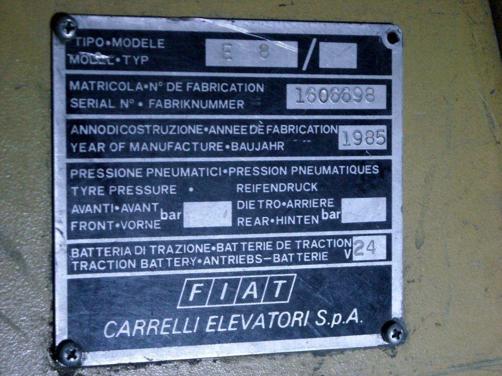 FORKLIFT FIAT, Año: 1985, ref.28457 | www.coci-sa.com/es | N9554_2.jpg